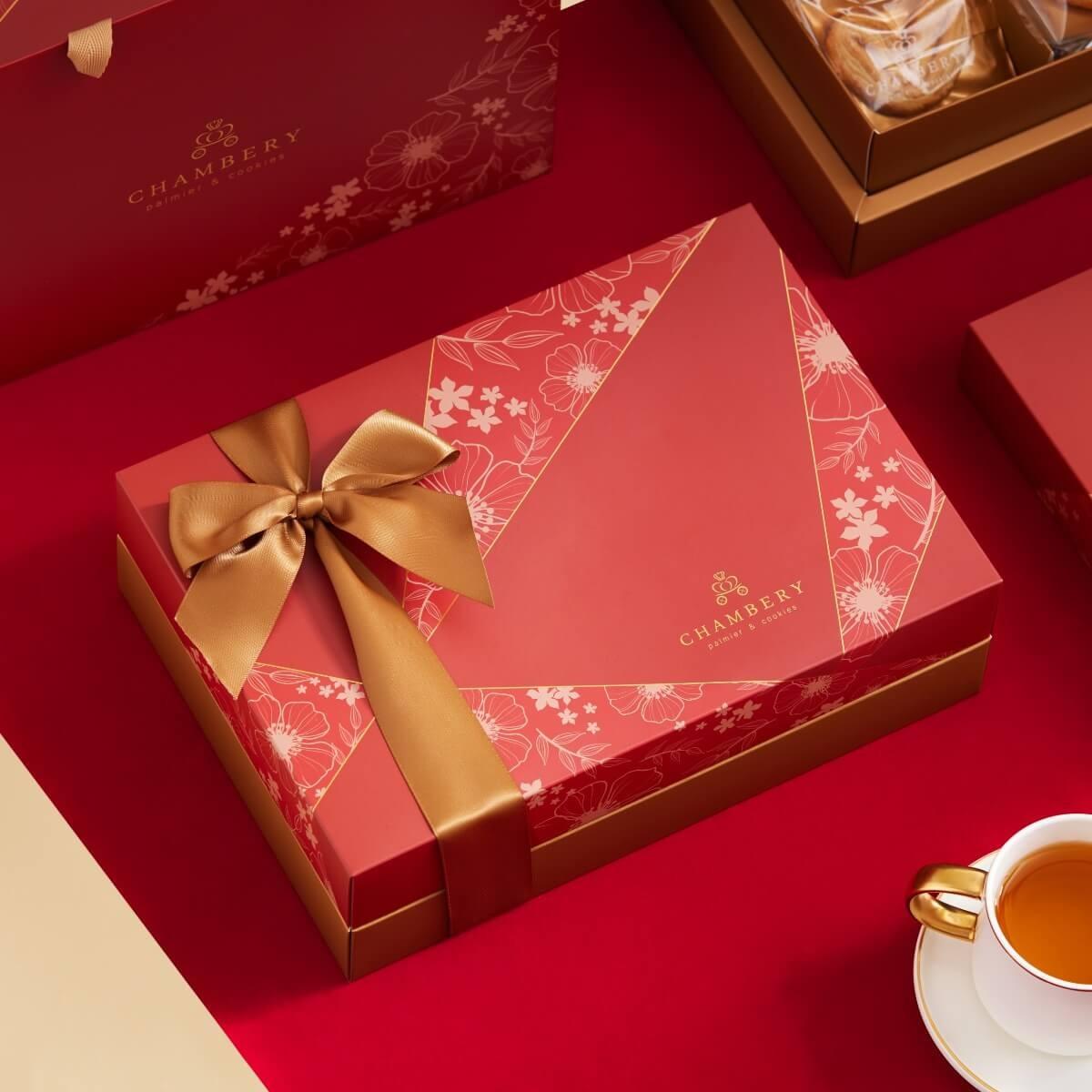 【香貝里】法式蝴蝶酥新年禮盒 / 春節禮盒 / 伴手禮 / 附提袋 / 蝴蝶酥 / 手工餅乾