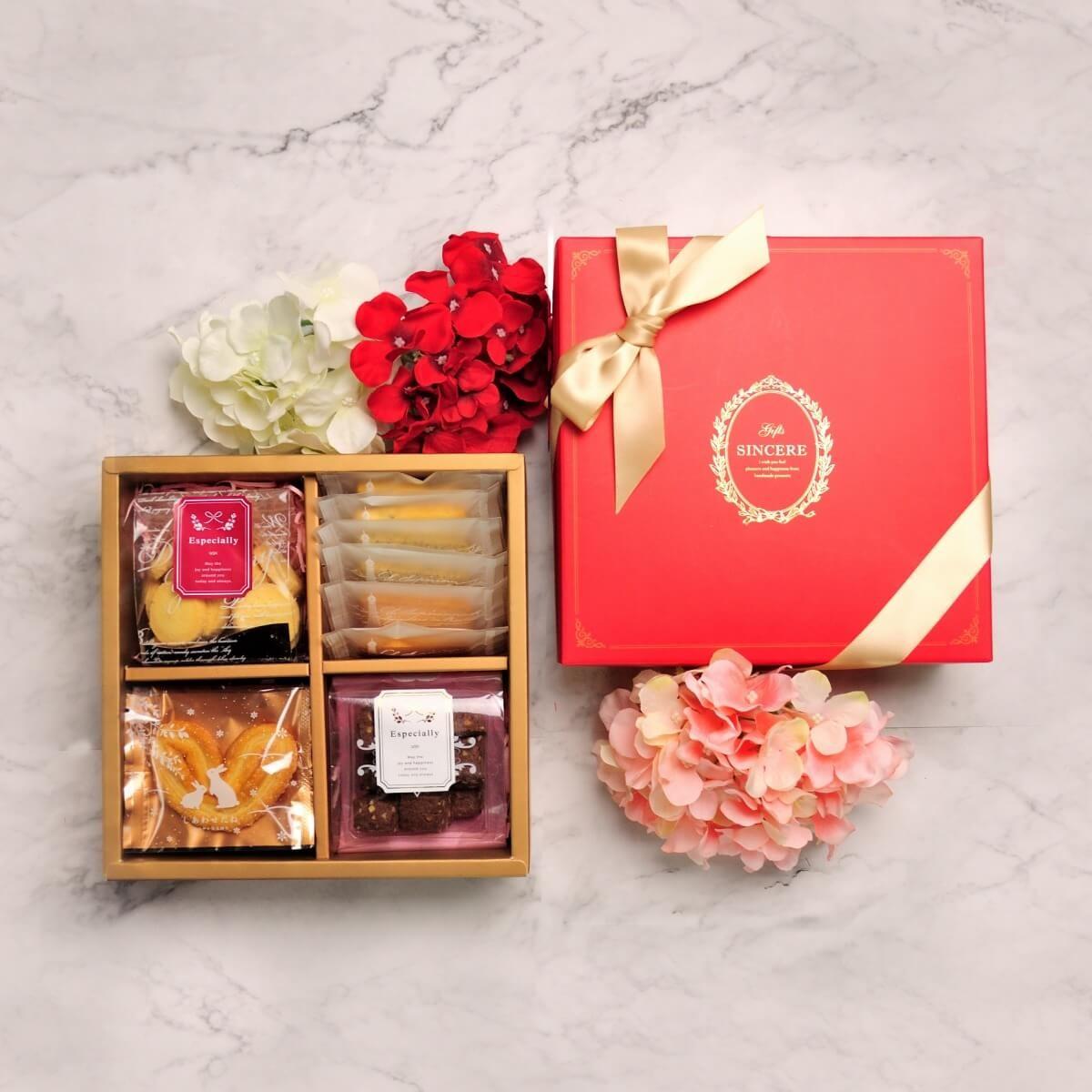 【香貝里】凡爾賽之戀(紅)禮盒 / 手工喜餅 / 伴手禮 / 附提袋